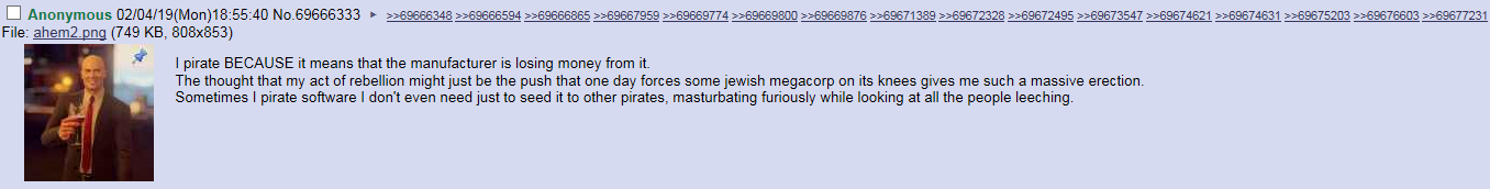 Why /g/ is motivated to pirate