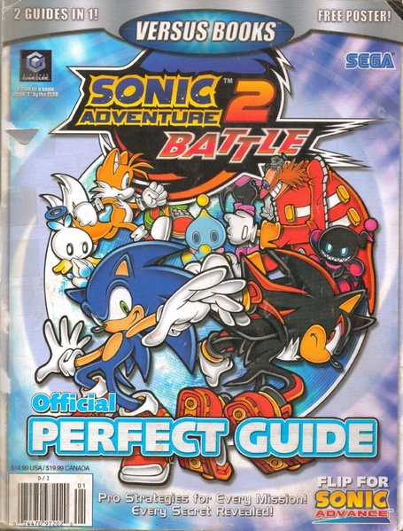 The cover for the Sonic Adventure 2: Battle guide